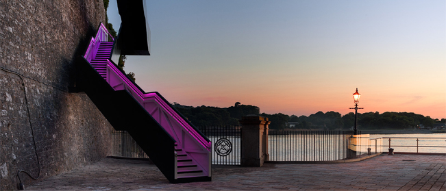 Latest Project Update � G&R LED Illumination of Western King Staircase, Royal William Yard.