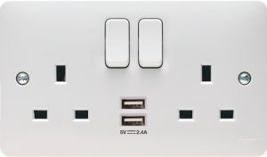 New Hager USB double sockets available!